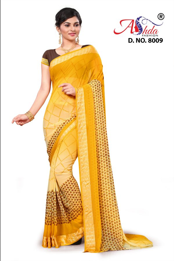 Draped for elegance and grace, Ashda sarees are always fascinating.