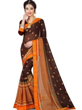 Chiffone Saree With Lace Border