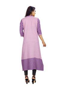 Ashda Fashion Purple Cotton A-Line Bollywood Style Designer Kurti