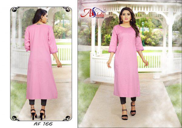 Ashda Fashion Designer Pretty Pink Handwork Indian Ethnic Bollywood Style Casual Party Wear Kurti.
