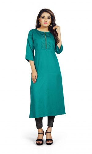 Ashda Fashion Designer Deep Blue Fashionable Bollywood Style Ethnic Wear Casual Party Wear Indian Style Kurti.