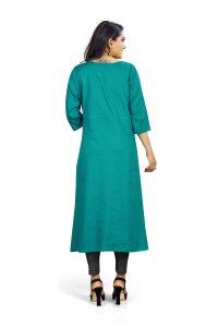 Ashda Fashion Designer Deep Blue Fashionable Bollywood Style Ethnic Wear Casual Party Wear Indian Style Kurti.