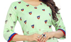 Ashda Fashion Designer Pastel Green Beautiful Casual Handwork Indian Look Bollywood Style Outfit With Comfort Kurti