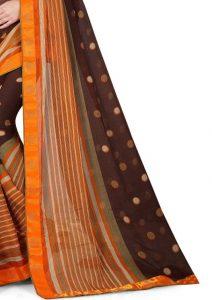 Ashda Fashion Chiffone Saree With Lace Border