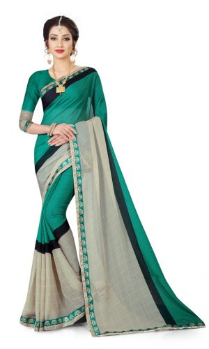 Ashda Fashion Chiffon Grey Classic Printed Indian Ethnic Look Bollywood Style Saree