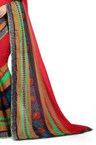 Ashda Fashion Chiffon Printed Indian Ethnic Look Bollywood Style Saree